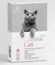 CannaCat preparat z CBD dla kotów zmagających się z dolegliwościami takimi jak stres, niepokój i lęki.