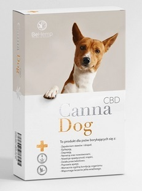 CannaDog - preparat z CBD dla psów zmagających się z dolegliwościami takimi jak stres, niepokój i lęki.